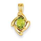 6x4mm Oval Peridot pendant 14k Gold XP1657PE