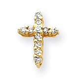Diamond Cross Pendant 14k Gold XP1756AA