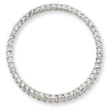 Diamond Circle Pendant 14k White Gold XP1793AA