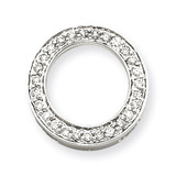 Diamond Circle Pendant 14k White Gold XP1799AA
