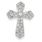 Passion Diamond Cross Pendant 14k White Gold XP179AA