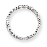 Diamond Circle Pendant 14k White Gold XP1805AA