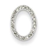 Diamond Oval Pendant 14k White Gold XP1816AA
