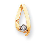 Holds 2.3mm Stone, Chain Slide Mounting 14k Gold XP243