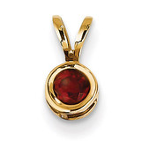 4mm Garnet bezel pendant 14k Gold XP300GA