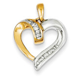Diamond Heart Pendant 14k Two-Tone Gold XP3158A