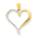 Diamond Heart Pendant 14k Gold XP3167AA