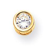 5mm Round Bezel Pendant Mounting 14k Gold XP320