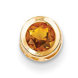 5mm Citrine bezel pendant 14k Gold XP320CI