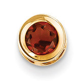 5mm Garnet bezel pendant 14k Gold XP320GA