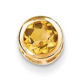 Citrine Diamond bezel pendant 14k Gold XP321CI