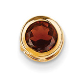 6mm Garnet bezel pendant 14k Gold XP321GA