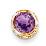7mm Amethyst bezel pendant 14k Gold XP322AM
