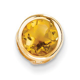 7mm Citrine bezel pendant 14k Gold XP322CI