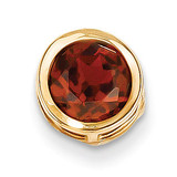7mm Garnet bezel pendant 14k Gold XP322GA
