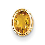 7x5mm Oval Citrine bezel pendant 14k Gold XP328CI