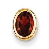 7x5mm Oval Garnet bezel pendant 14k Gold XP328GA