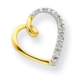 Diamond Heart Chain Slide 14k Gold XP3584AA