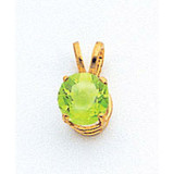 6mm Peridot pendant 14k Gold XP416PE