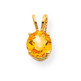 7mm Citrine pendant 14k Gold XP417CI