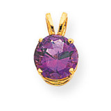 8mm Amethyst pendant 14k Gold XP418AM