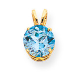 8mm Blue Topaz pendant 14k Gold XP418BT