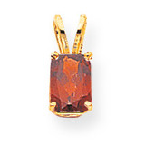 7x5mm Emerald Cut Garnet pendant 14k Gold XP420GA
