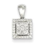 Diamond Square Pendant 14k White Gold XP4241AA