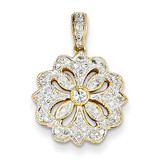Diamond Circle Pendant 14k Gold XP4270AA