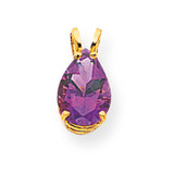 10x7mm Pear Amethyst pendant 14k Gold XP427AM