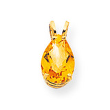 10x7mm Pear Citrine pendant 14k Gold XP427CI