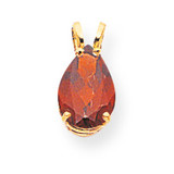 10x7mm Pear Garnet pendant 14k Gold XP427GA