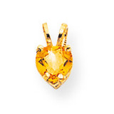 5mm Heart Citrine pendant 14k Gold XP428CI