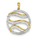 Diamond Circle Swirl Pendant 14k Gold XP4301AA