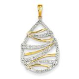 Diamond Teardrop Swirl Pendant 14k Gold XP4302AA