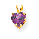 7mm Heart Amethyst pendant 14k Gold XP430AM