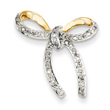 Diamond Bow Chain Slide 14k Gold XP4321AA