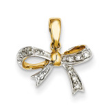 Diamond Bow Pendant 14k Gold XP4323AA