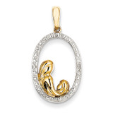 Diamond Mother and Child Pendant 14k Gold XP4327AA