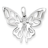 Diamond Butterfly Pendant 14k White Gold XP4338AA
