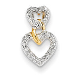 Diamond Double Heart Slide Pendant 14k Gold XP4410AA