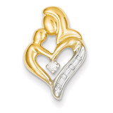 Diamond Heart Slide Pendant 14k Gold XP4435AA