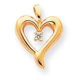 Diamond Heart Pendant 14k Gold XP570AA