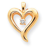 Diamond heart pendant 14k Gold XP571AA