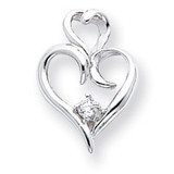 Heart Pendant Mounting 14k White Gold XP591