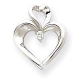 Heart Pendant Mounting 14k White Gold XP592