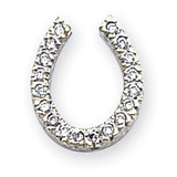 Holds 18-1.5mm Stones, Chain Slide Mounting 14k White Gold XP643