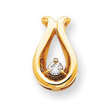 Holds 3.4mm Stone, Chain Slide Mounting 14k Gold XP669