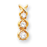 Holds 1-4, 1-3.5, 1-3.1mm Stone, Pendant Mounting 14k Gold XP675