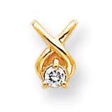 Holds 2.9mm Stone, Chain Slide Mounting 14k Gold XP686